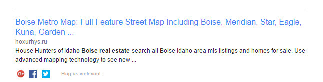 Fake map of Boise complete with malware