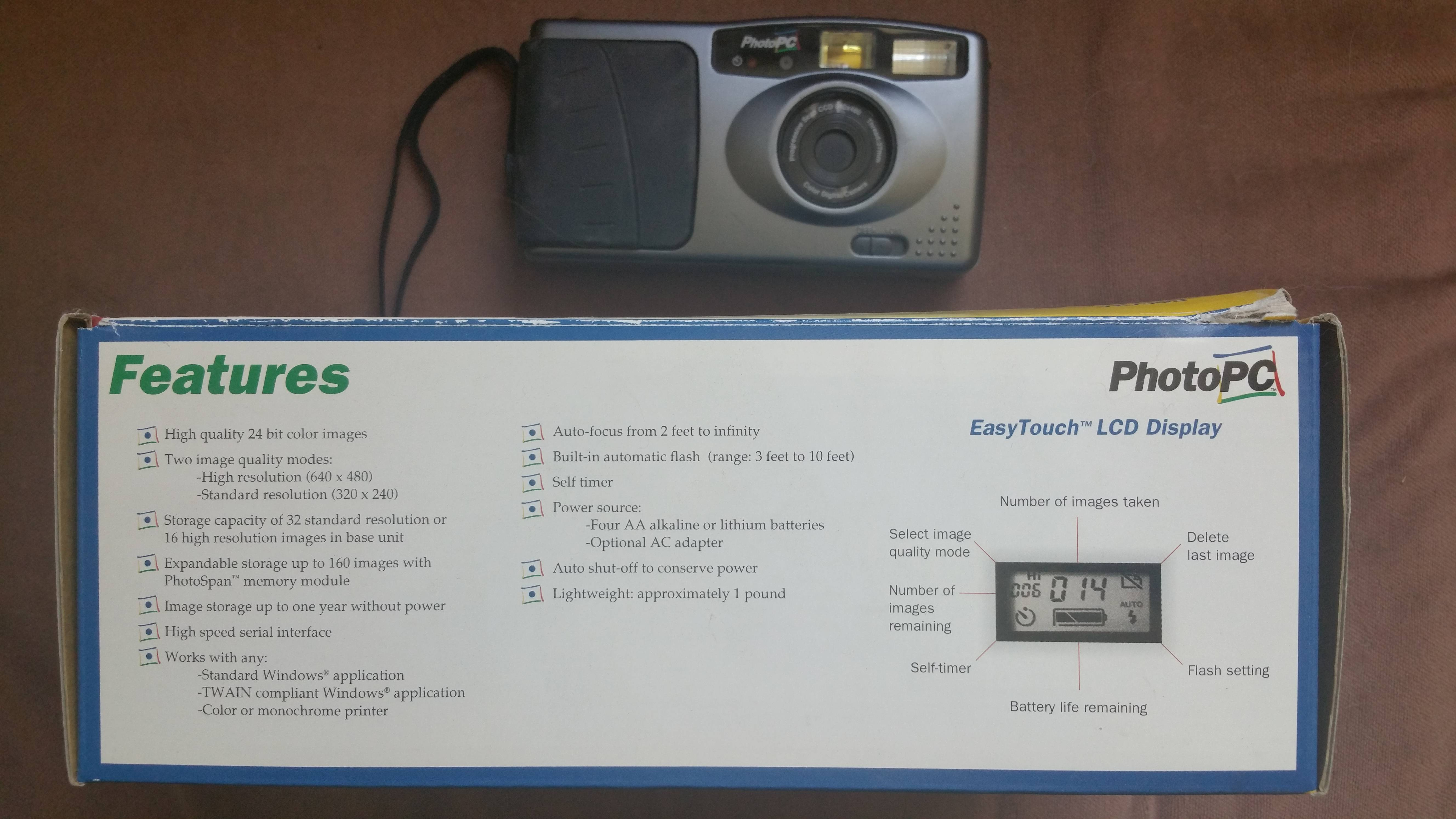 original Epson PhotoPC digital camera