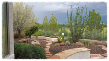 assisted living home garden