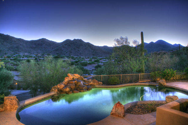 Fountain Hills home with pool and mountains
