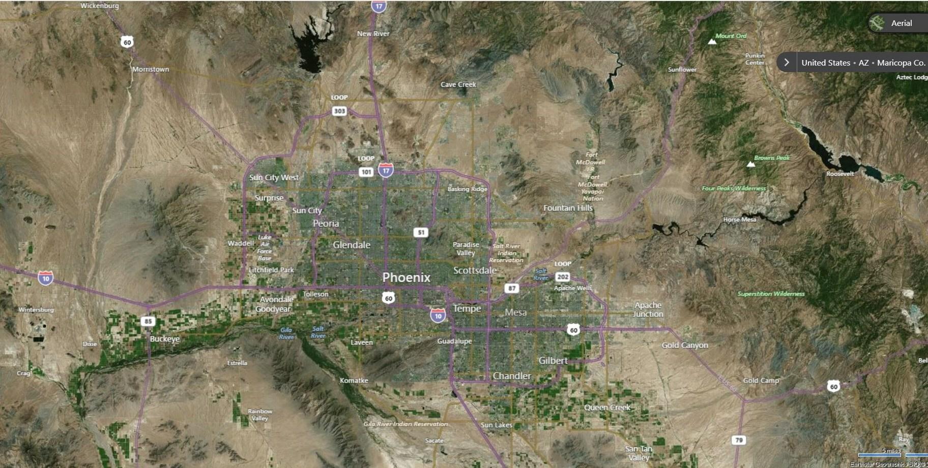 Phoenix Metro Map