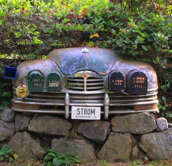 39 junk 39 or home art only you can decide for Car mailboxes for sale
