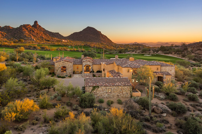 Scottsdale golf course home pinnacle peak