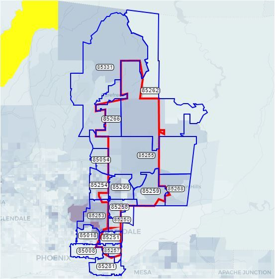 Map Of Scottsdale Arizona Zip Codes.Scottsdale Az Home Prices By Zip Code