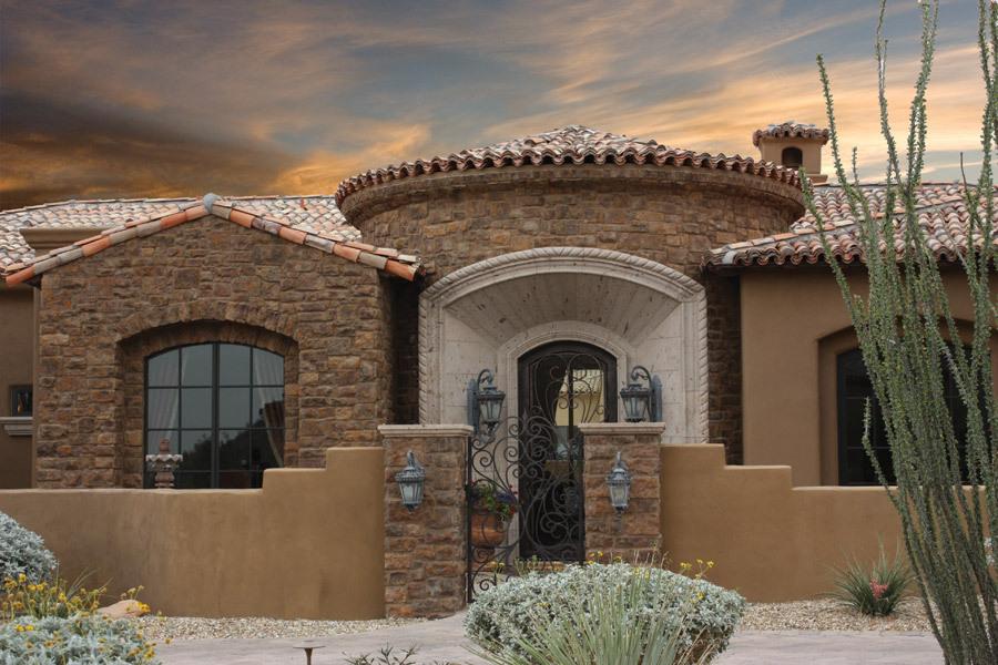 Stone veneer home arizona