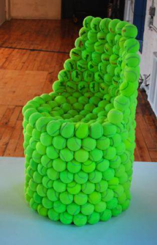 recycle tennis balls into chair