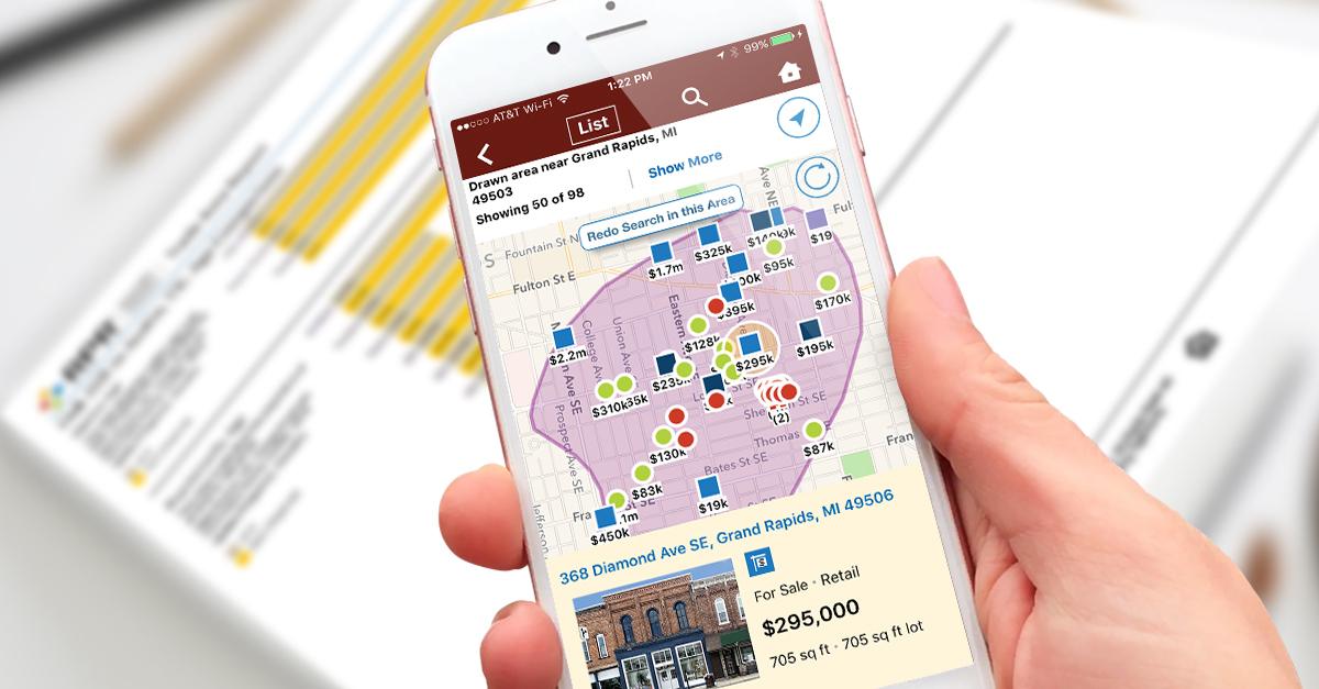 RPR mobile app map