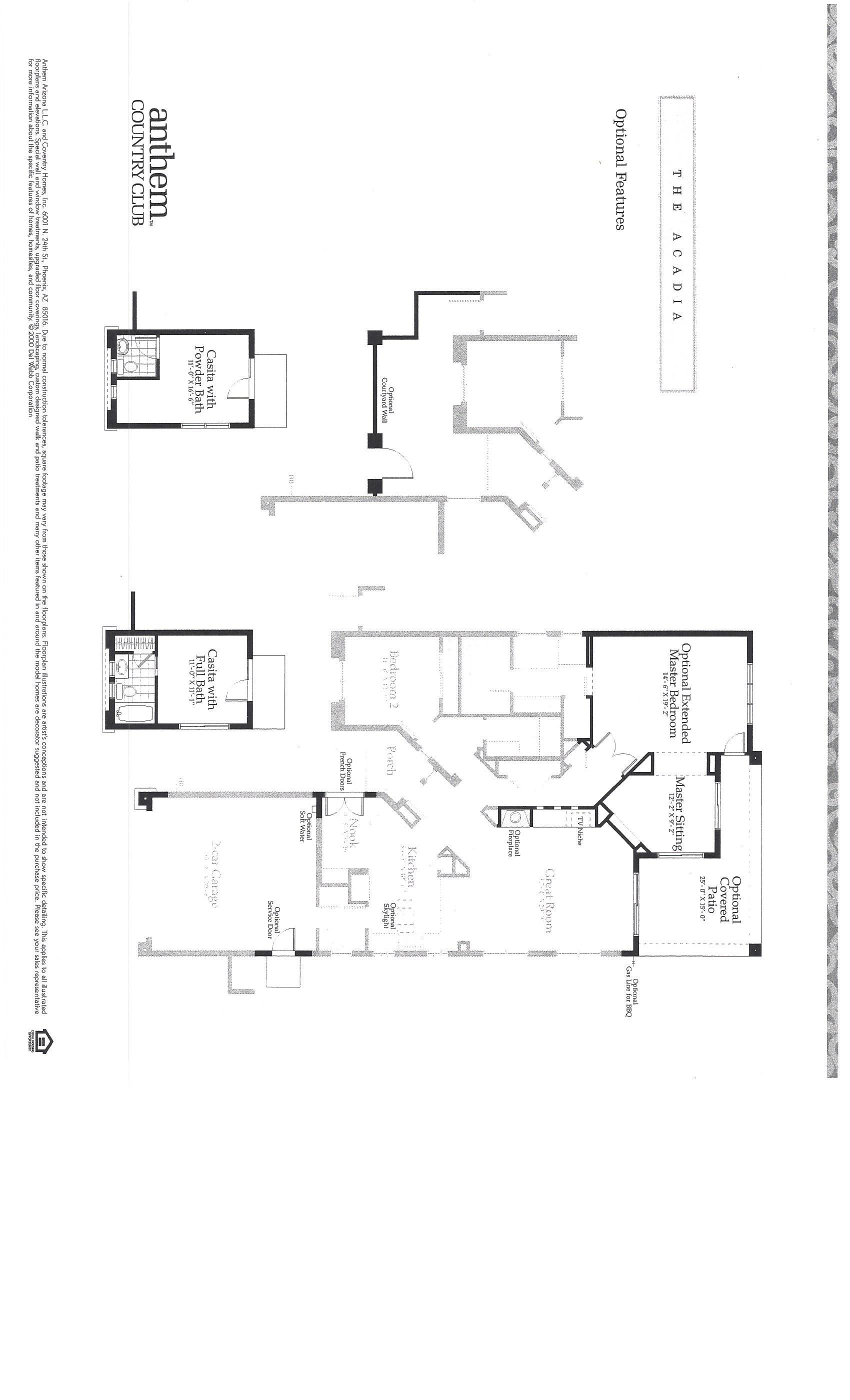 Anthem Az Country Club Floor Plans The Acadia Durang