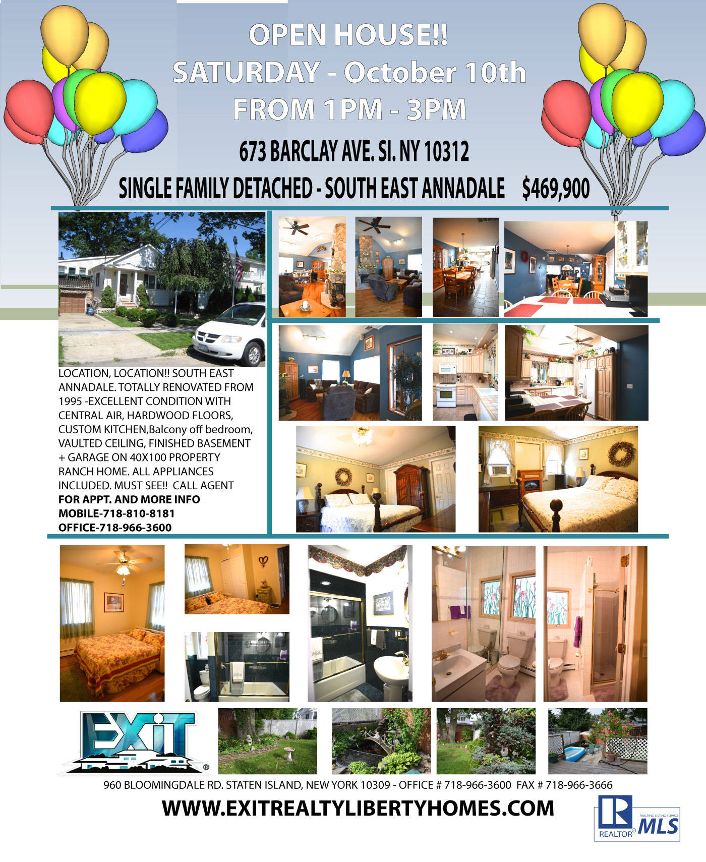 Home for Sale!!  Open House Saturday 1-3