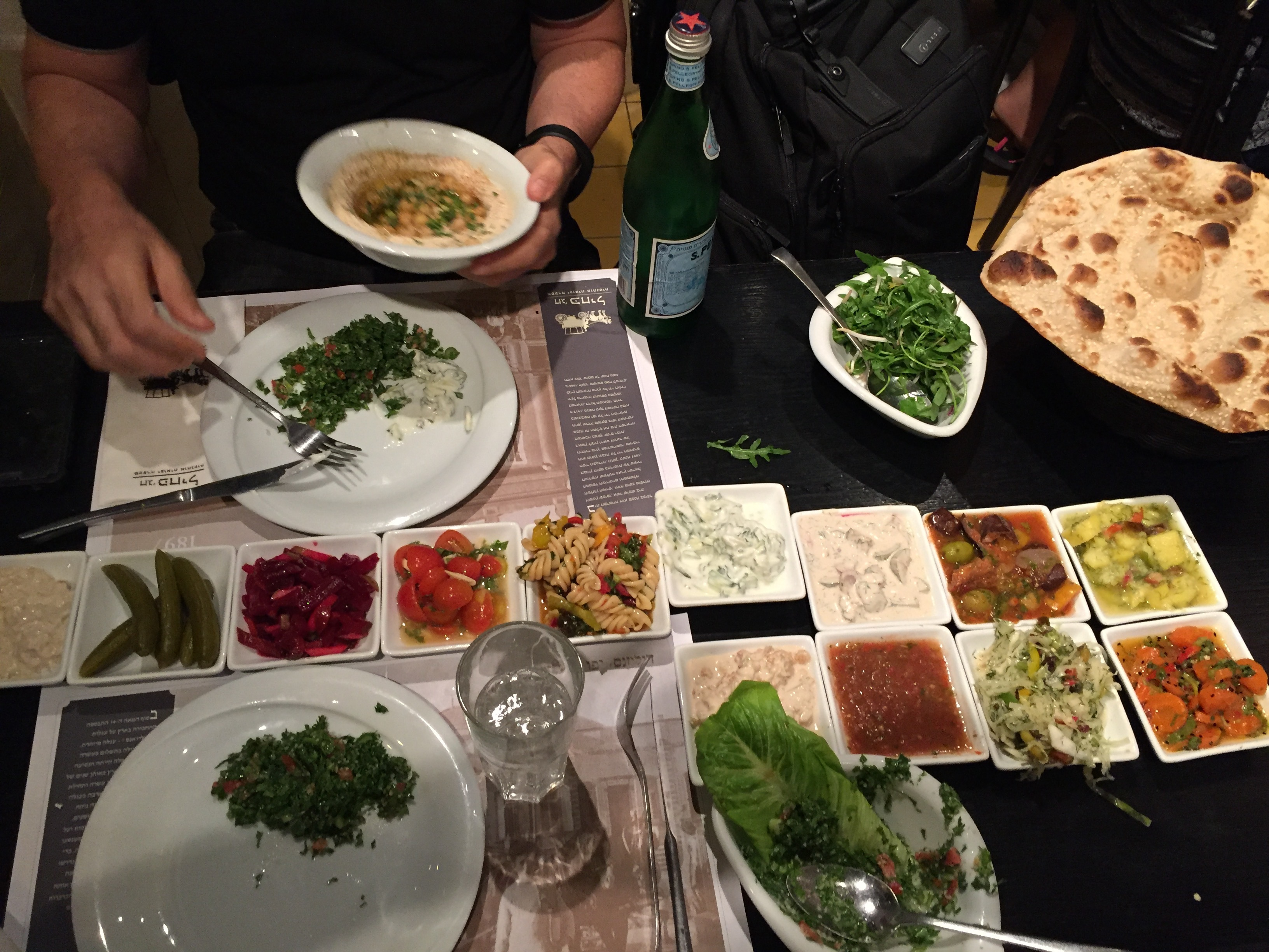 Arabian food overload in Jaffa Israel