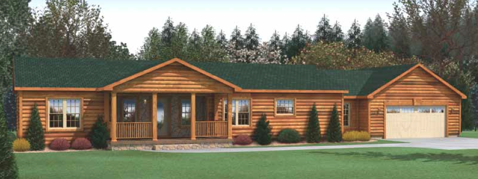 MODULAR HOME LOG CABIN EXTERIOR