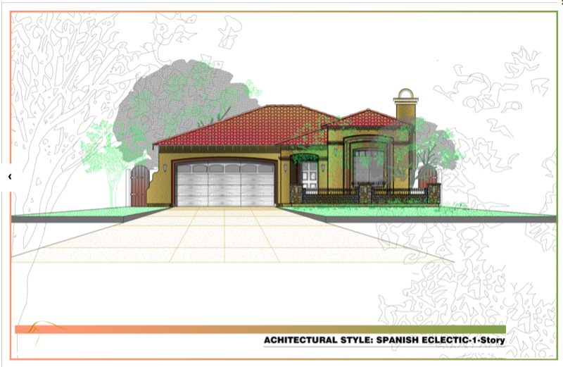 Factory built kit homes can be minimized to fit small s for Spanish eclectic architecture