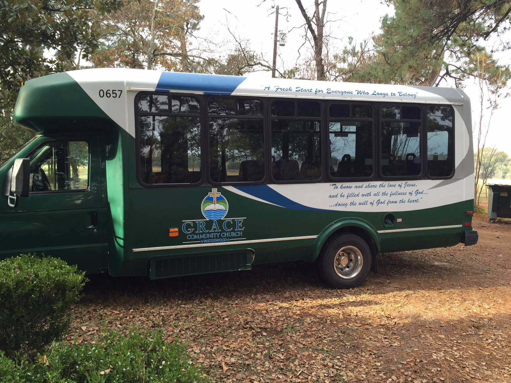 Look for the Grace Baptist Church Bus
