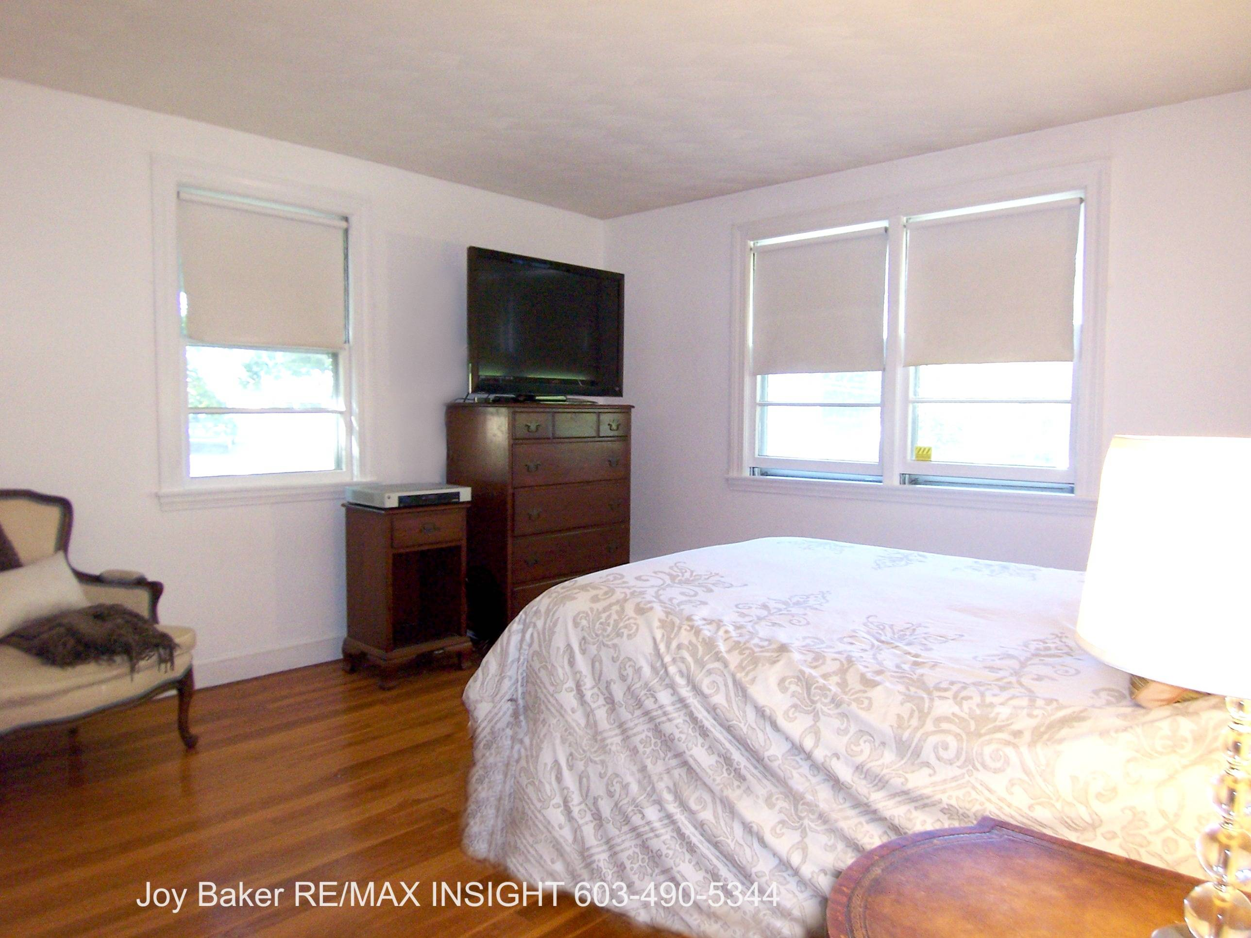 the upper bedroom level offers three generously sized bedrooms and the