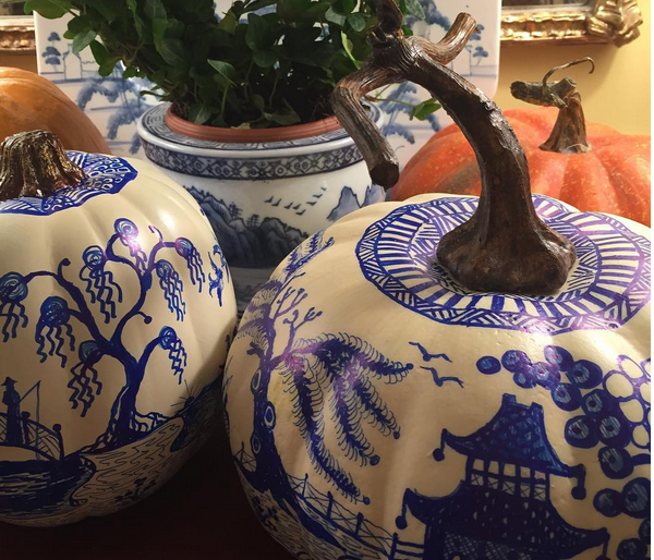 Town and Country Magazine Chinoiserie Pumpkins