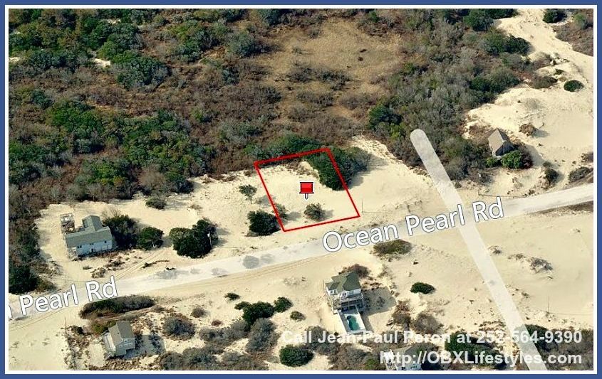 This Outer Banks NC lot for sale in Swan Beach lets you see the ocean just by standing outside your home since it is only 5 lots away!