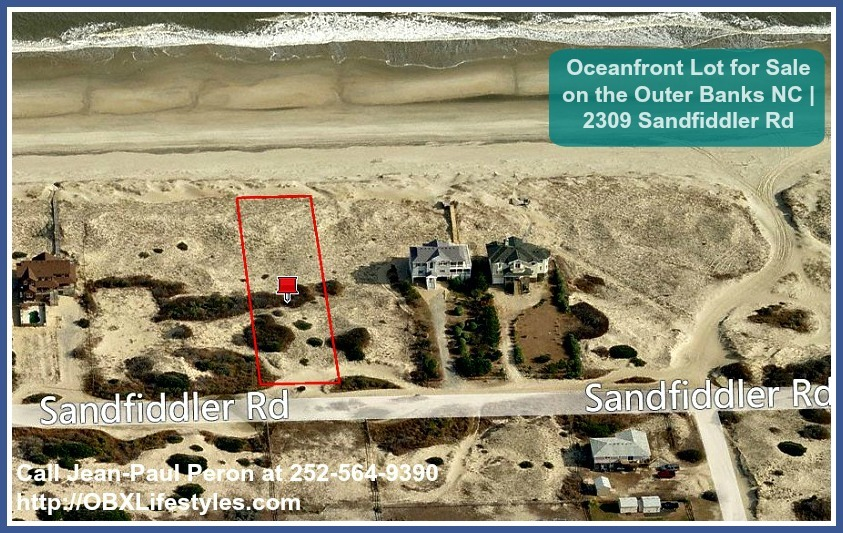 Take advantage of the positive overall effect that owning this oceanfront Outer Banks NC lot for sale offers.