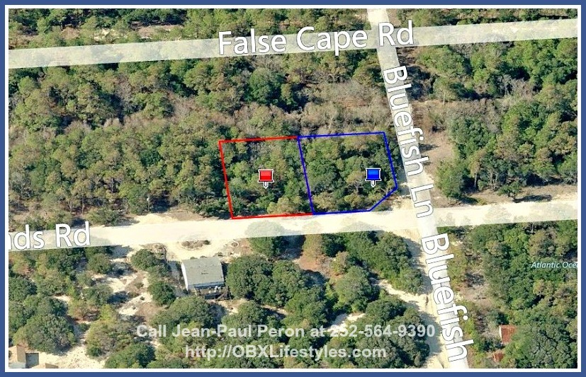 Double your beach estate by purchasing the Outer Banks NC lot for sale next door which comes with the same size!