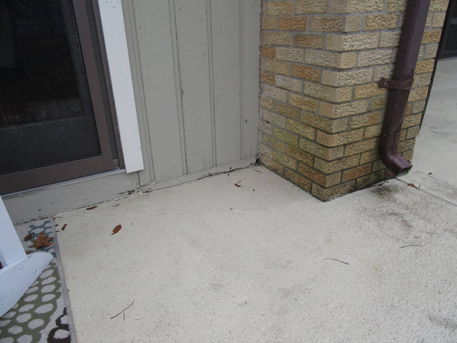Downspout onto patio