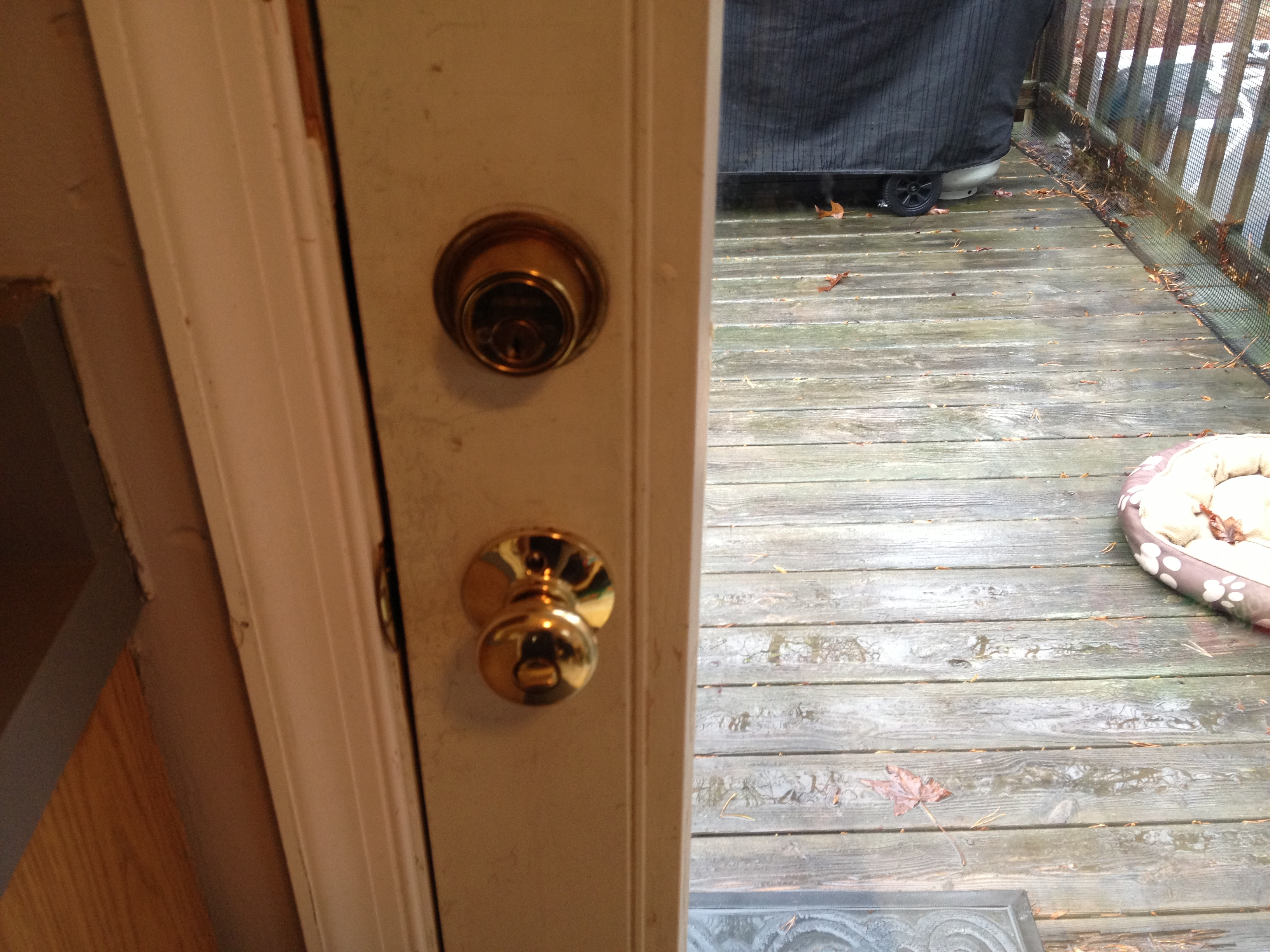 Richmond Home Inspector Double Keyed Deadbolts