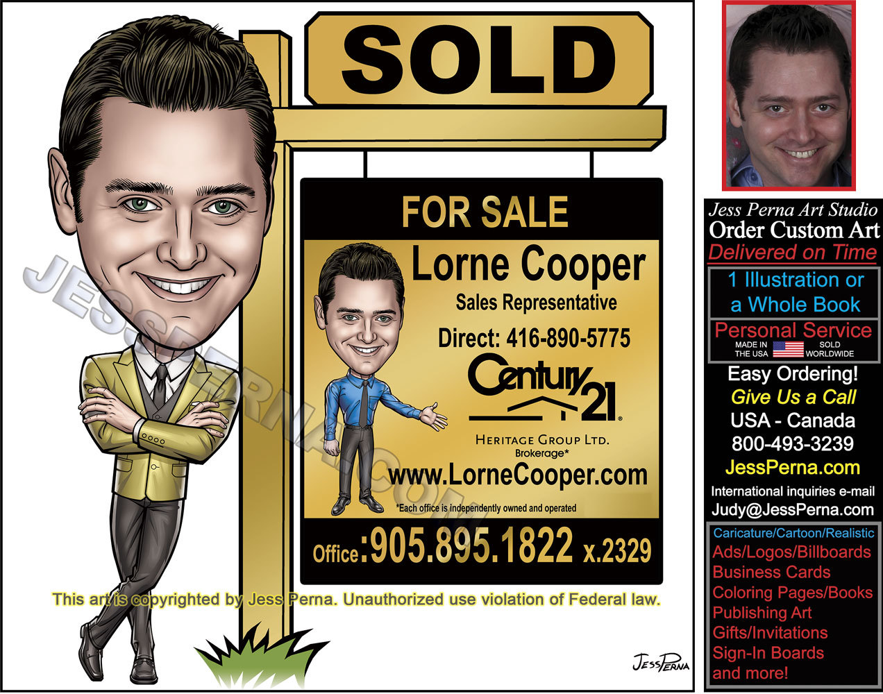 Real Estate Agent Caricature