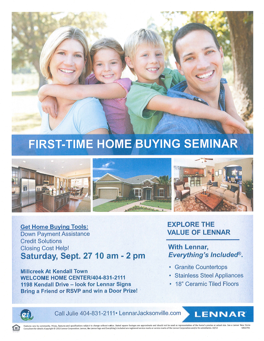 First Time Home Buyers Seminar Jacksonville Saturday 10