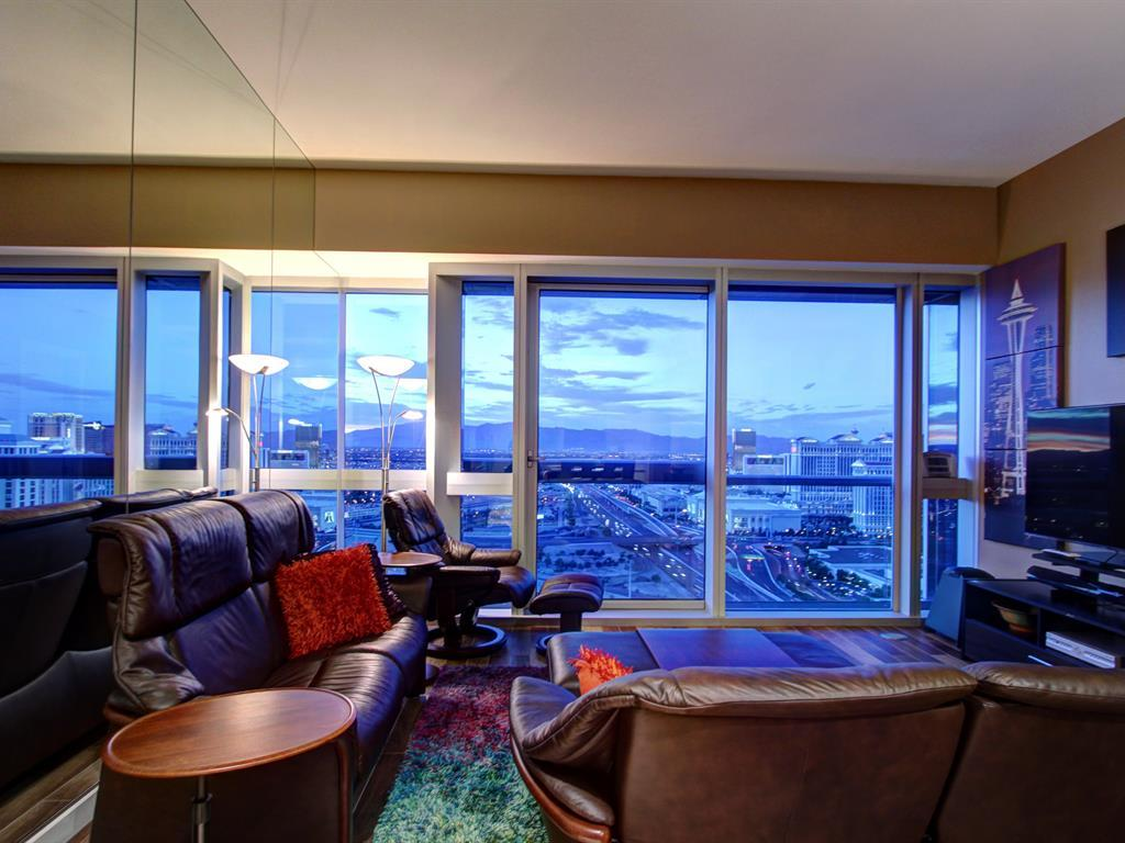 The Martin Las Vegas Condo # 3304 - Living Room - Turn Key Furnished For Sale -$415k
