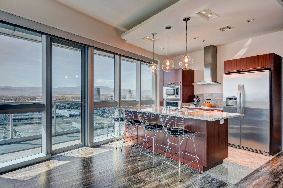 The martin Las Vegas Condo Kitcehn of # 3001 For Sale by The Stark Team, ELITE REALTY. 702 236 8364