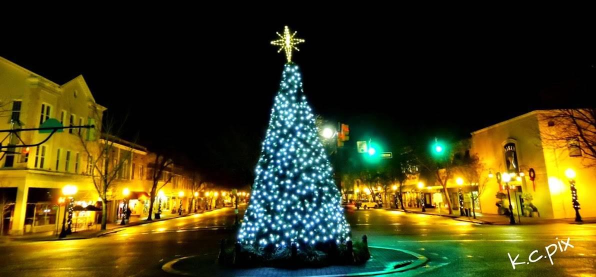 downtown aiken sc christmas tree