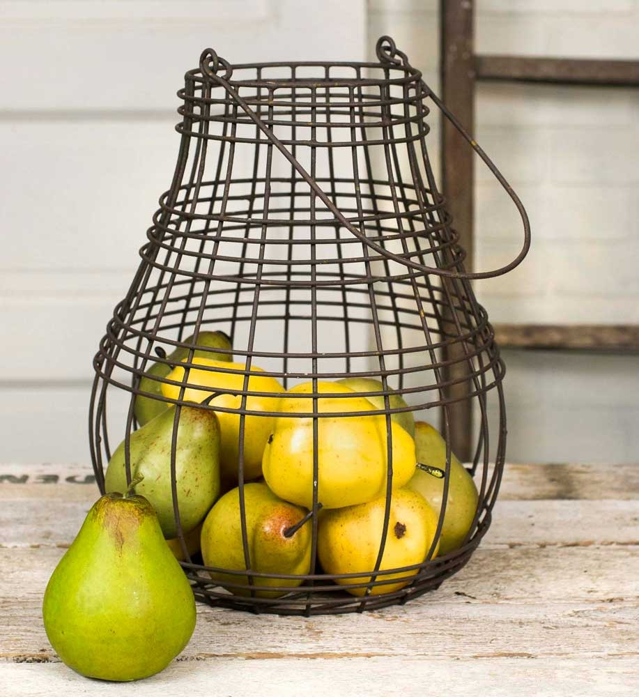 Rusted Farmhouse Pear Basket