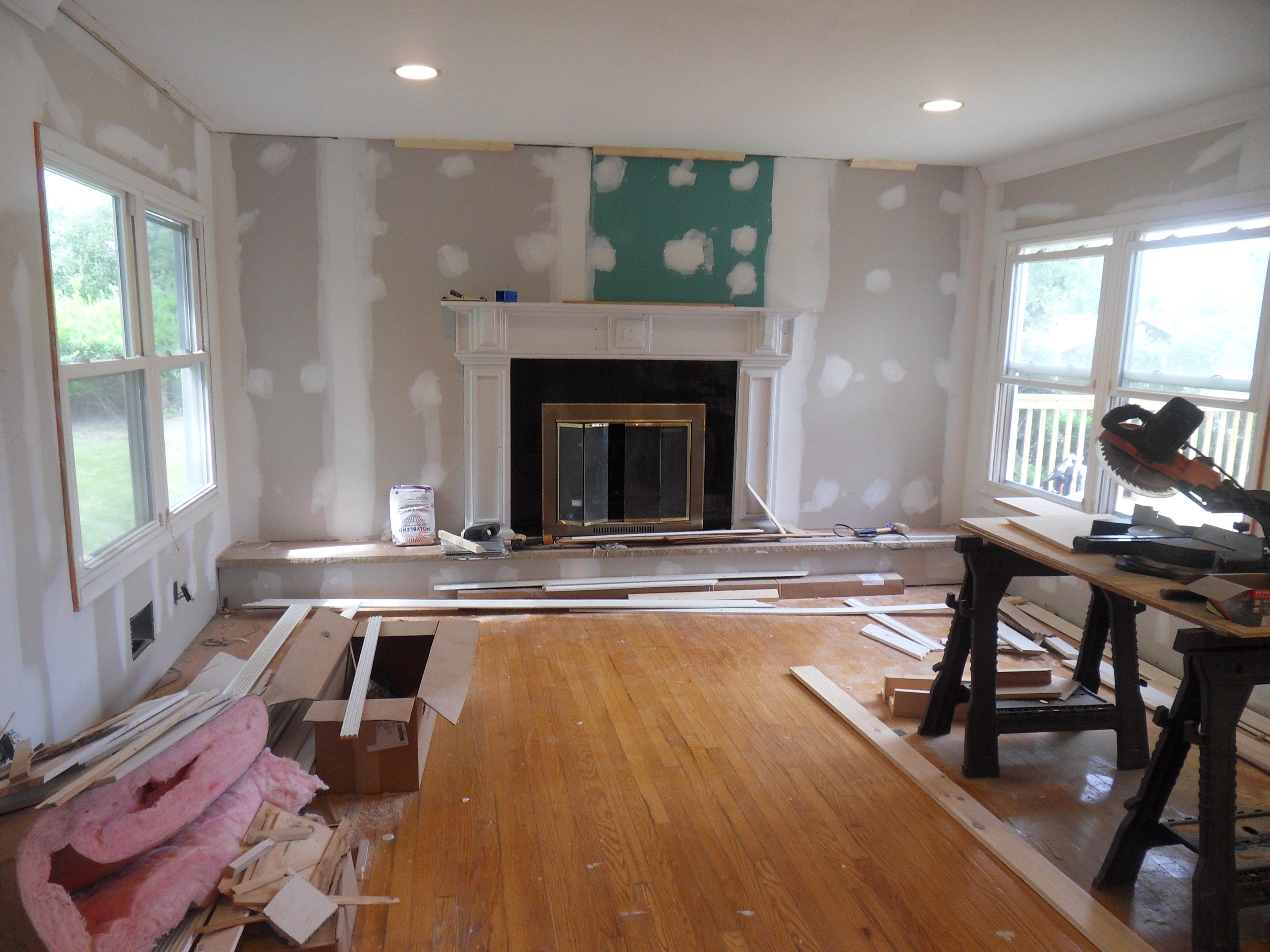Living Room during initial contruction phase