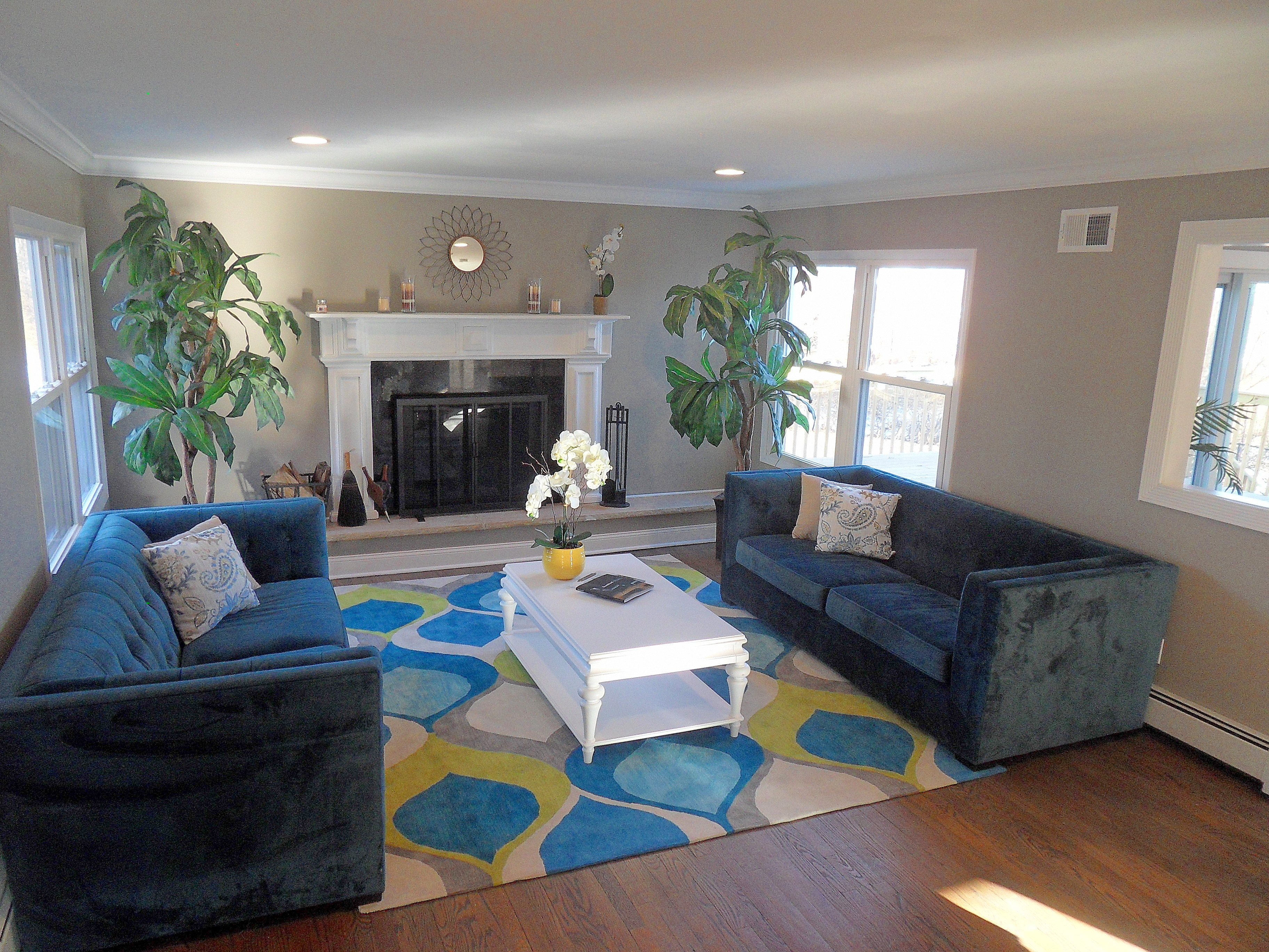 Living room completed by Kates Home Staging in Goshen, New York