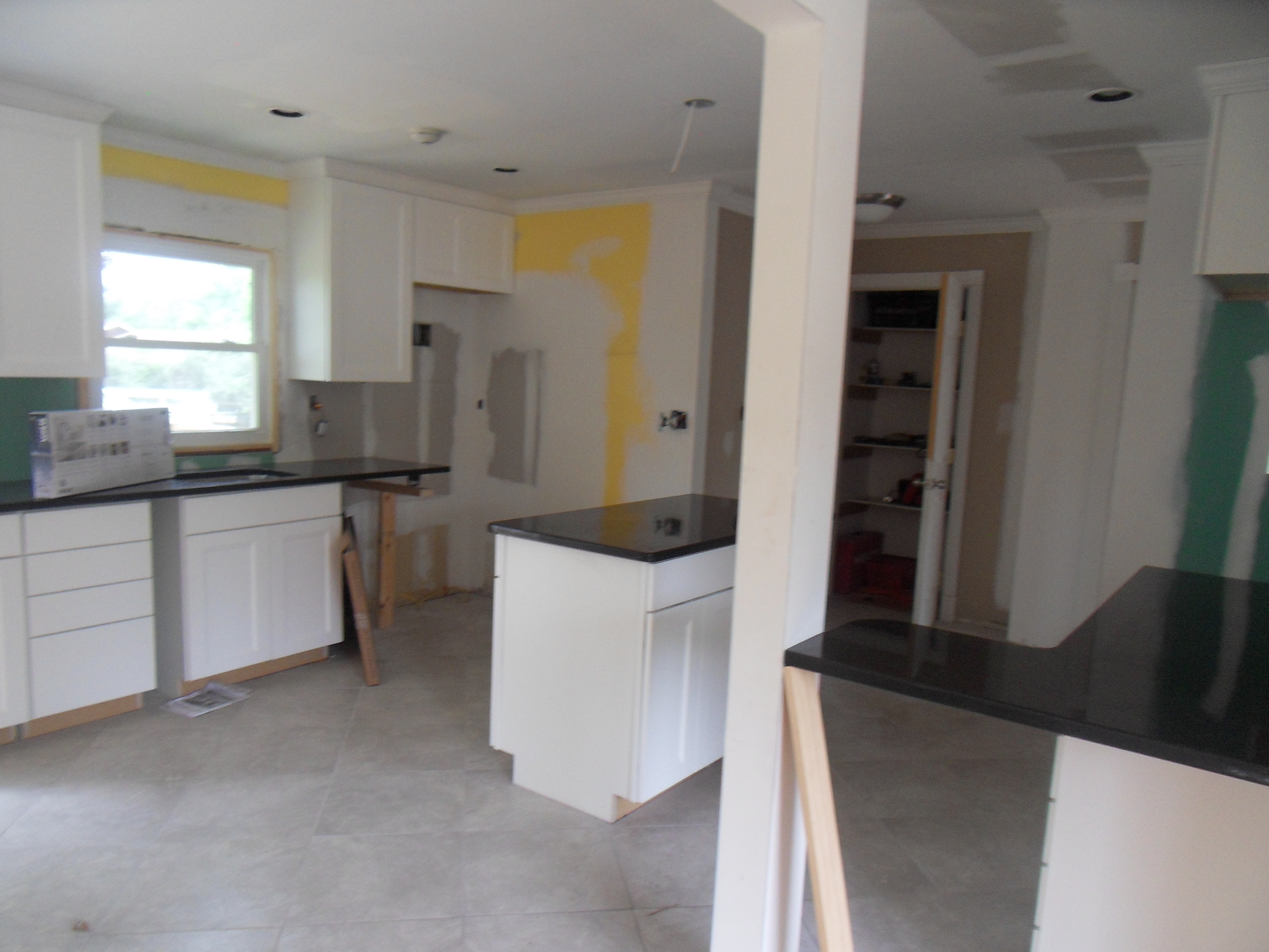 Kitchen during home renovations