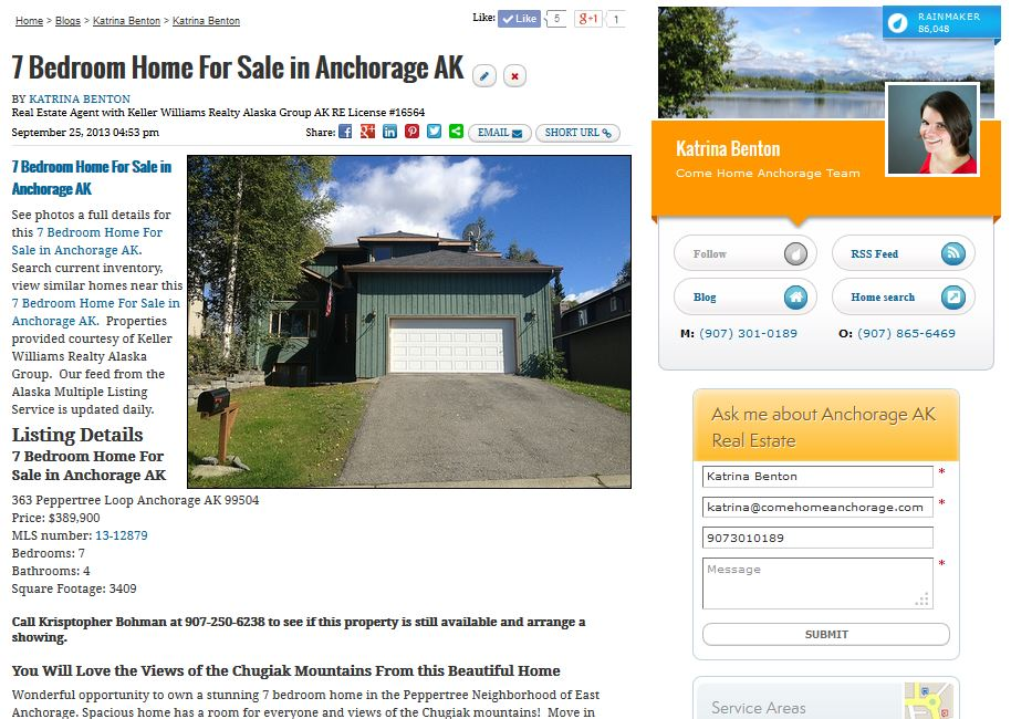 Property Marketing Plan for Homes in Anchorage AK