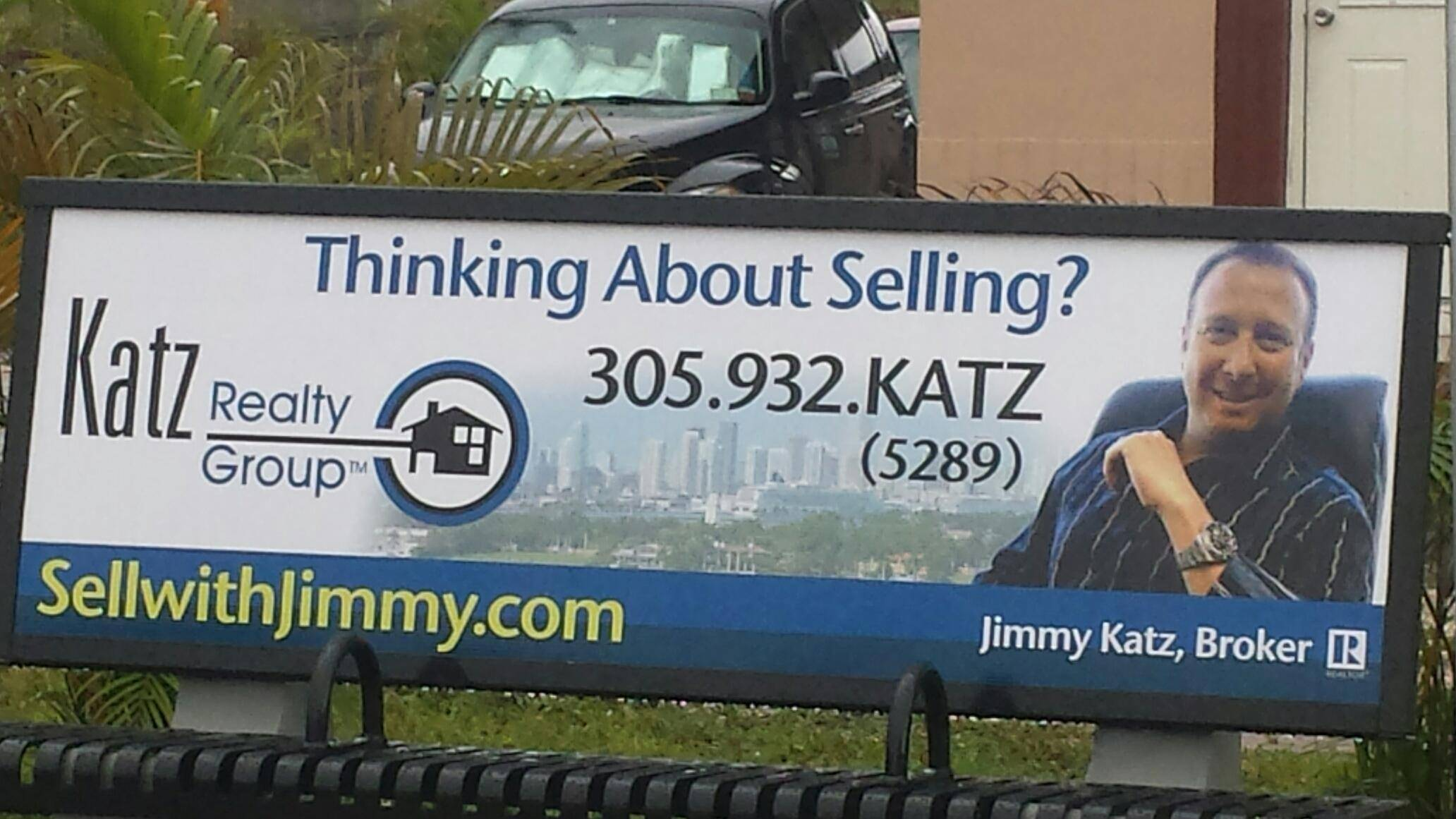 Katz Realty Group Bus Bench Ad