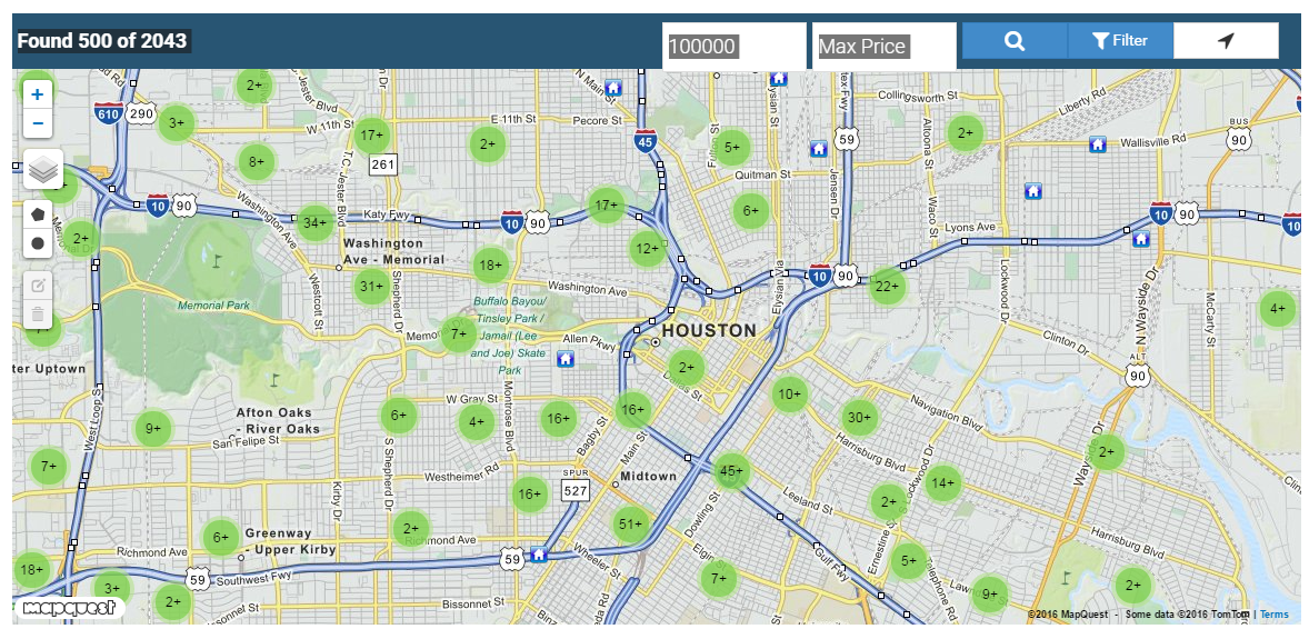 Search an Interactive Map of Houston TX Real Estate Lis