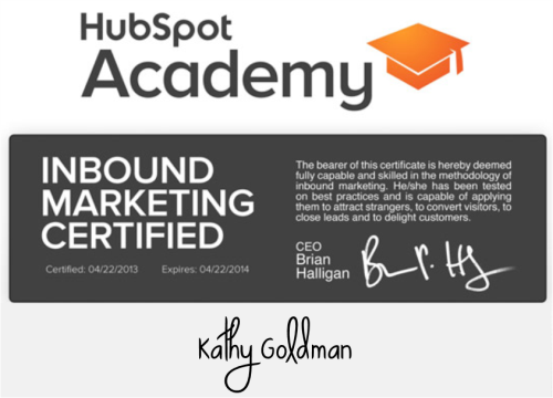 Hubspot Academy Inbound Links Certified