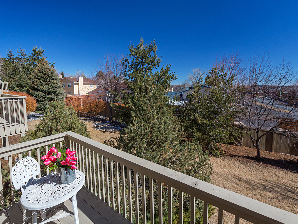 View from Townhouse Deck Colorado Springs Kim Gaston 719-661-6987