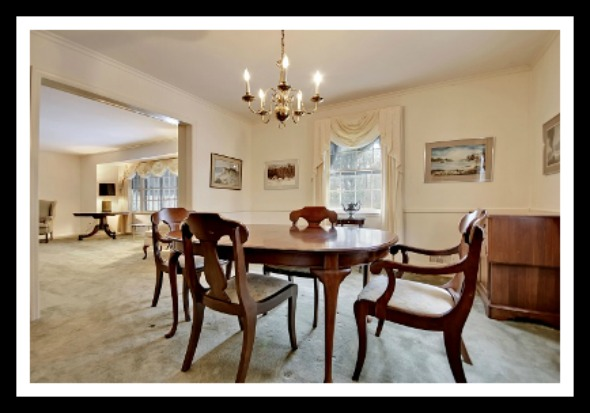 With a dining area large enough to accommodate several guest, this Bridgewater Township home for sale is ideal for lovely get-togethers with friends and family.