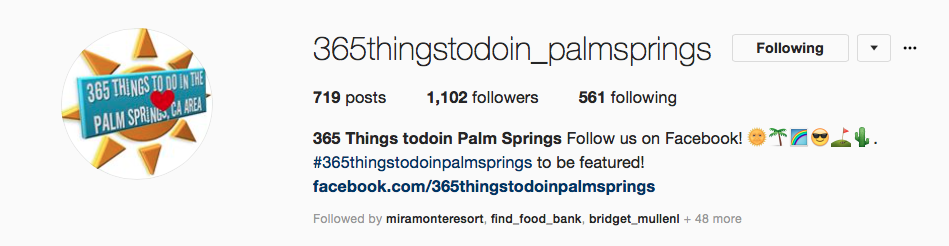 365 things to do in palm springs instagram