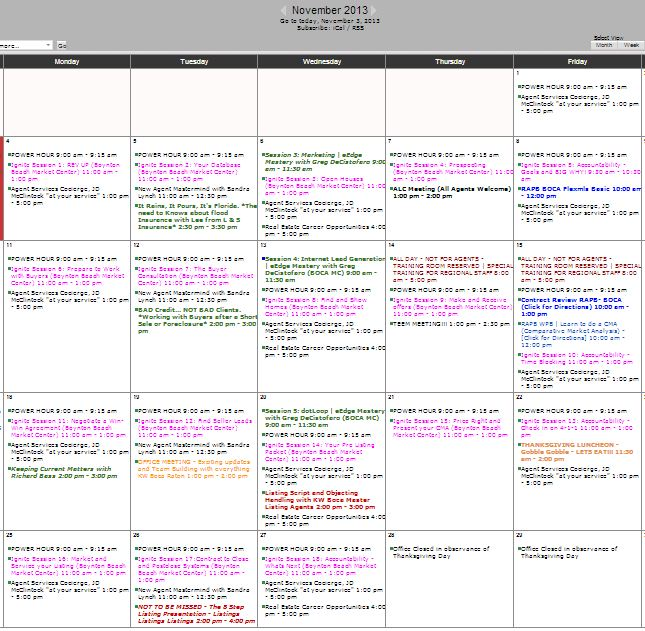 Boca Raton Real Estate Devlopment Calendar