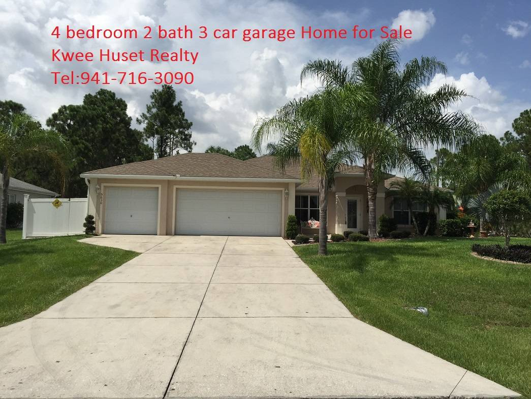 bedroom 2 bath 3 car garage home for sale north port fl 34288