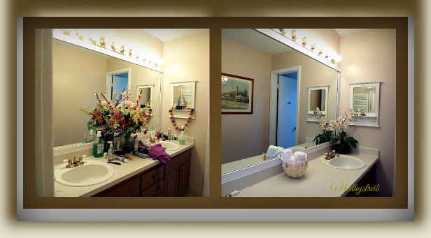 before and after staged bathroom