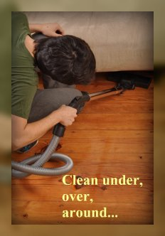 clean under furniture