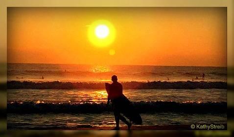 surfer at sunrise-delray beach