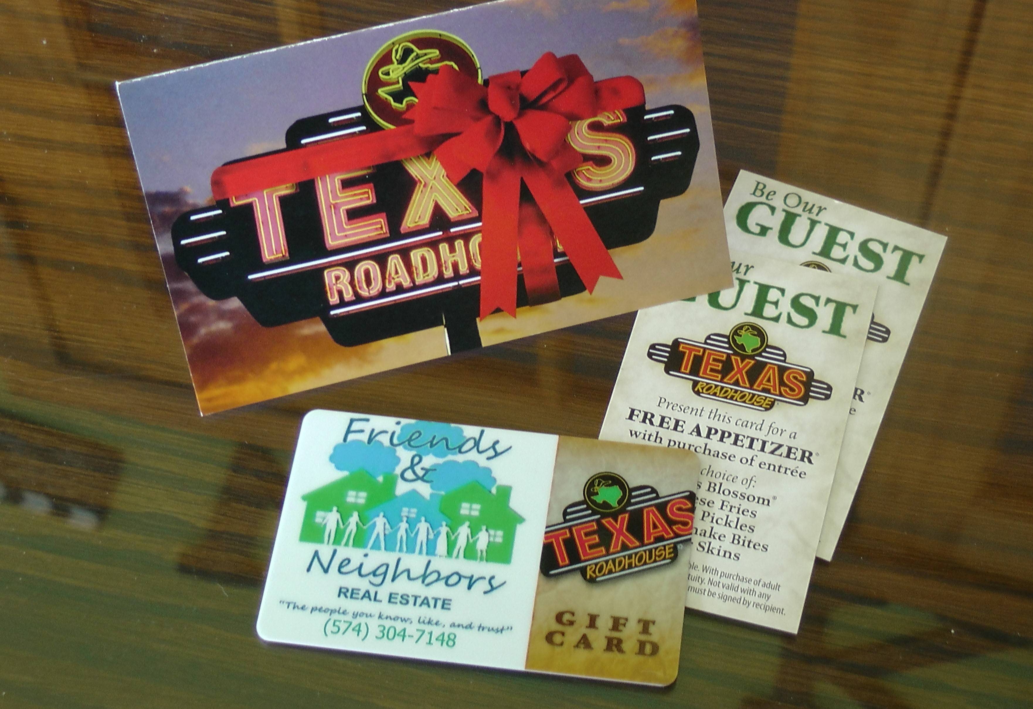 Texas roadhouse gift cards where to gift ftempo for How to get gift cards for your business