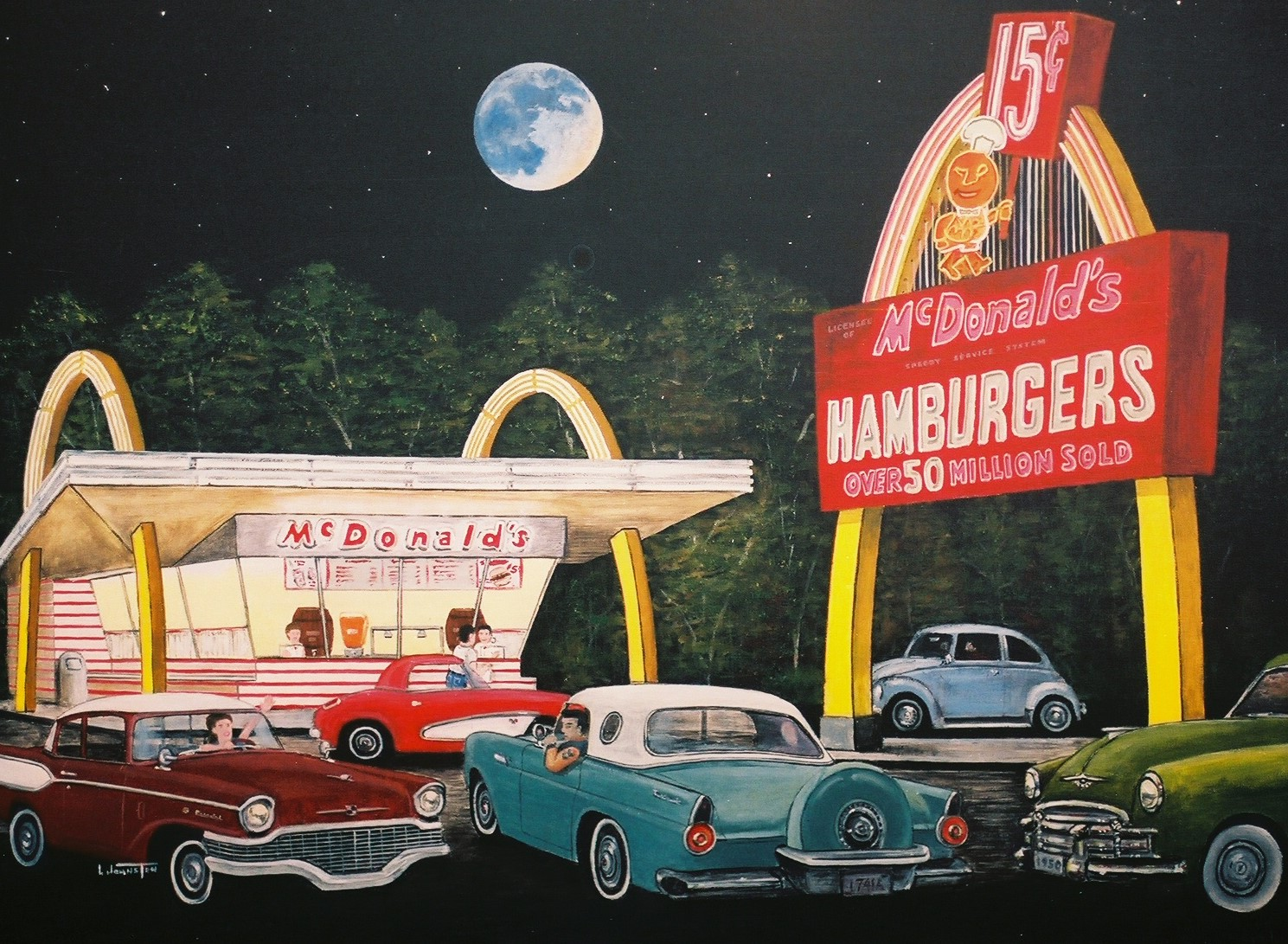 Painting by Larry Johnston