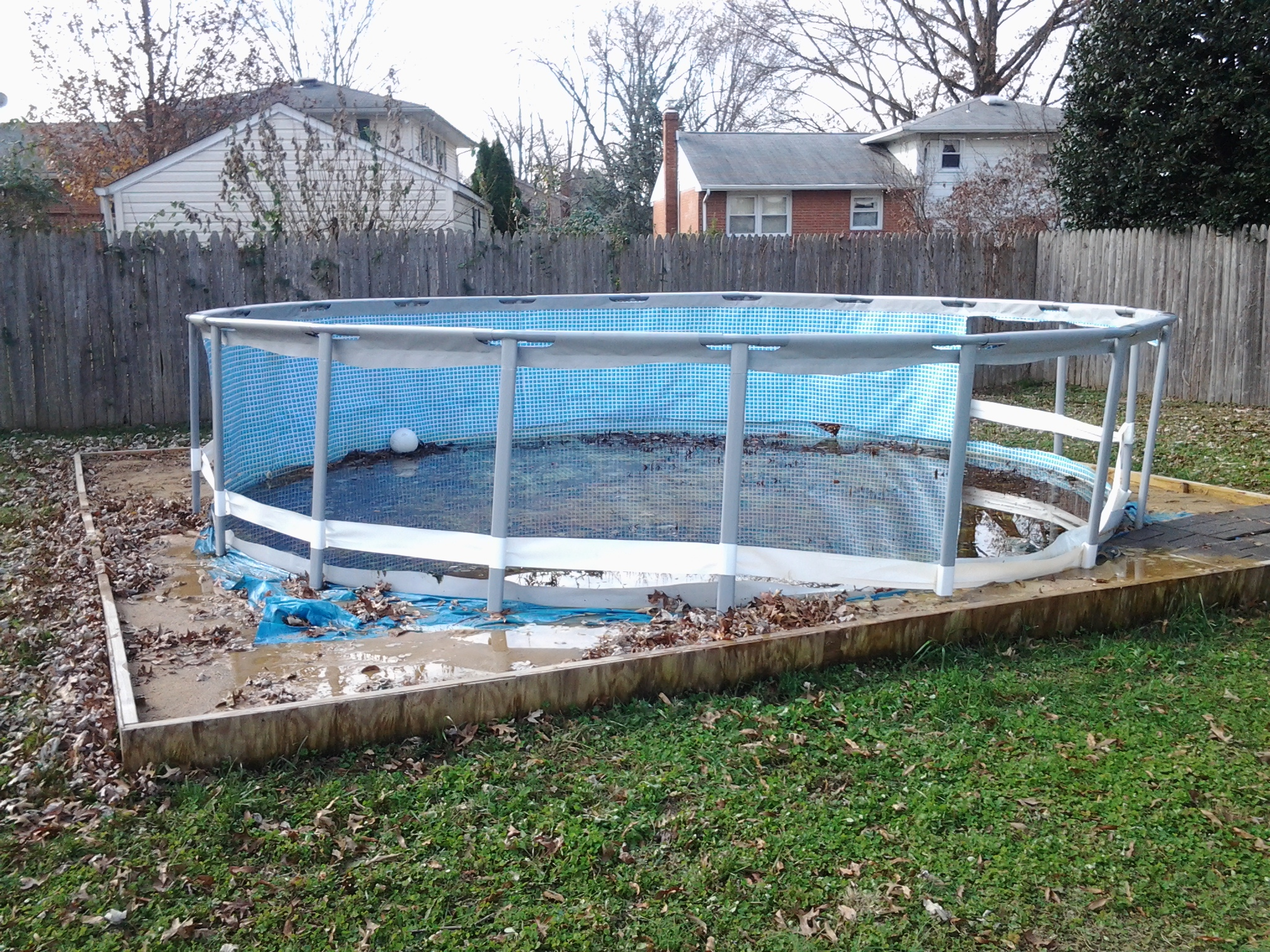 todays work above ground pool removal newark delaware
