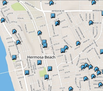 market report map search sand section hermosa beach homes for sale buy active pending sold home listings