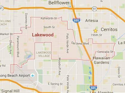 Lakewood California Map Lakewood, CA.  Homes for Sale.
